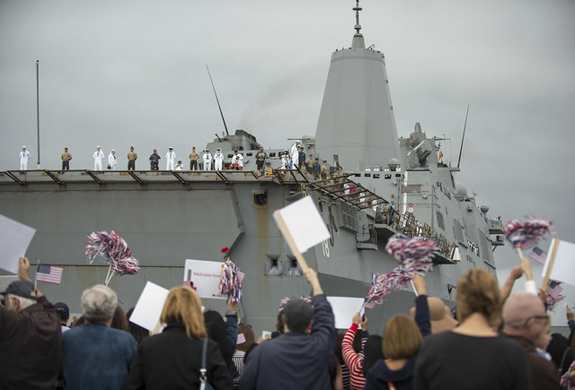 USS Boxer ARG Homecoming April 25, 2014
