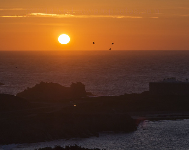 Sunset over Chateau L'Etoc, Alderney
