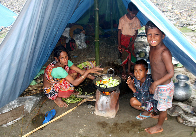 Children in the camp.