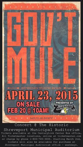 Govt Mule, Shreveport