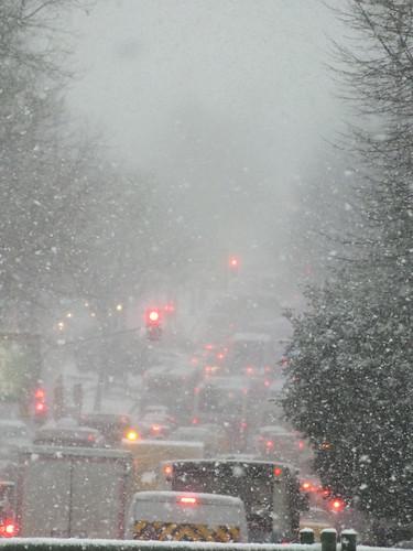 Isztambul hóban, dugóban