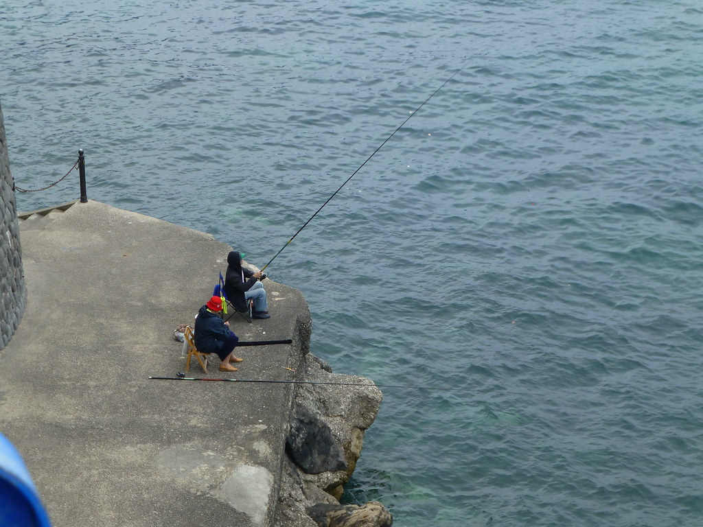 Fishing from the jetty near Atrani