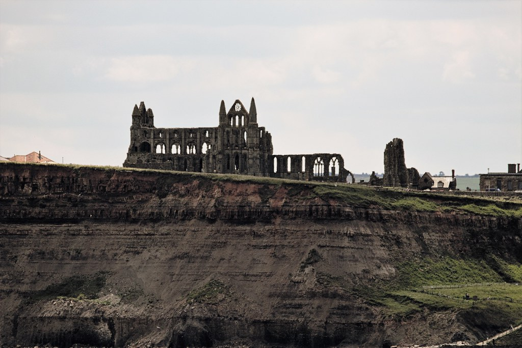 Whitby abbey from the sea side
