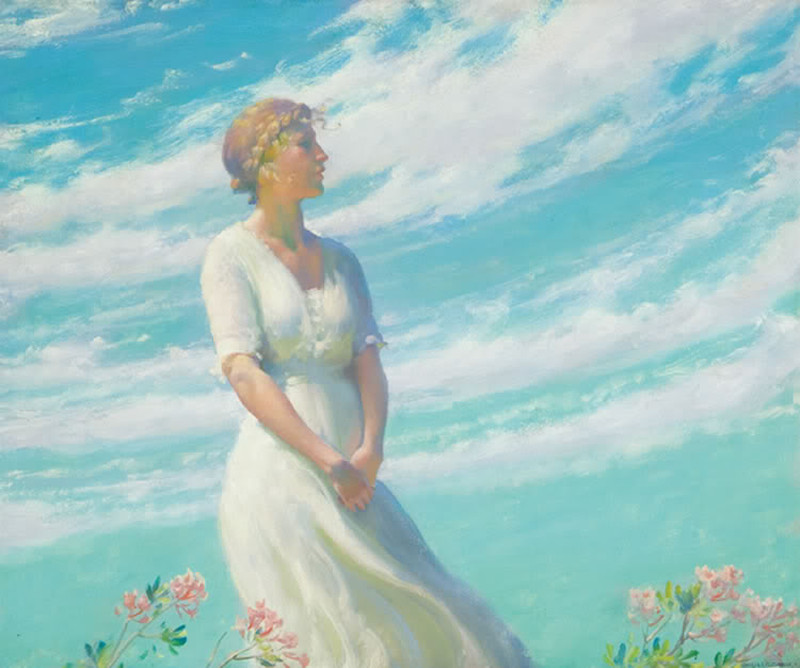 May Breeze by Charles Courtney Curran - Date unknown