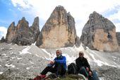 Drei Zinnen, Wahrzeichen der Dolomiten. Foto: Sigrid Beisegel.