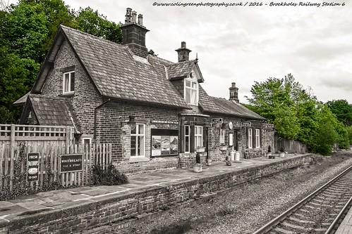 Railway Platforms at Brockholes Railway Station.