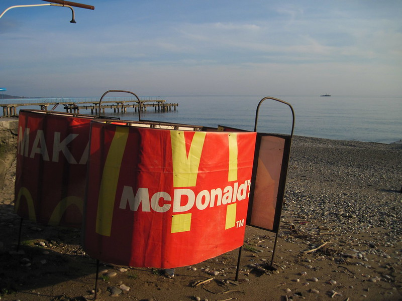 McDondald's on the beach and a cruiser