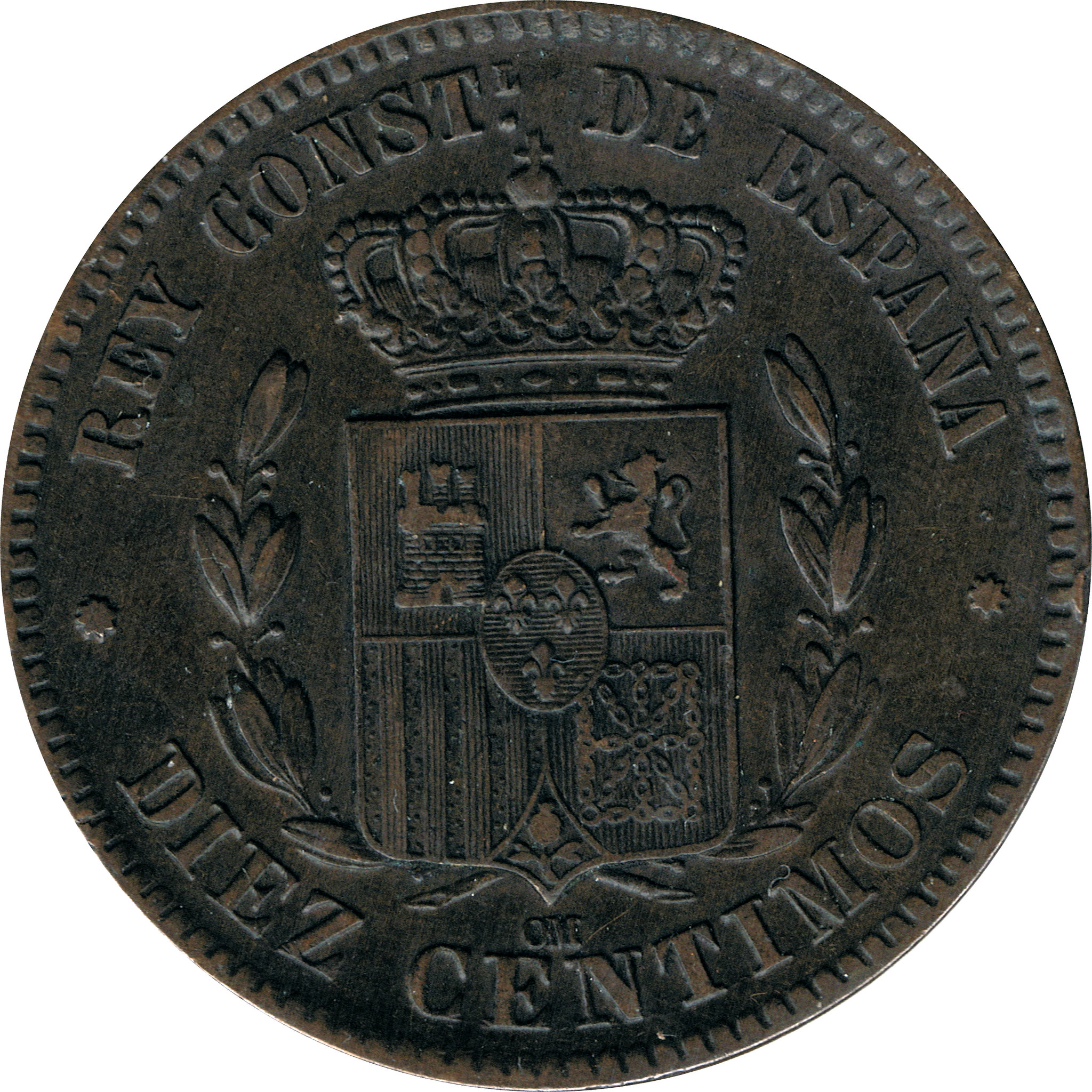 10 Centimos Alfonso XII 1879 8721191784_5d8127eed2_k