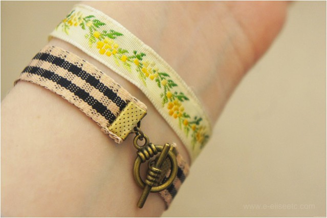 ribbon bracelet diy 6