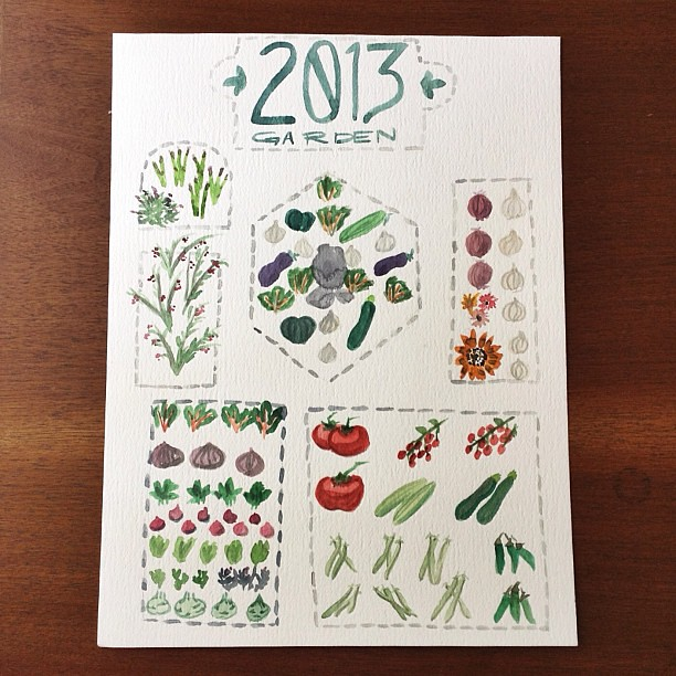 Planned my summer veggie garden today!  Also,I planted the first bed and will do the second later today. :D