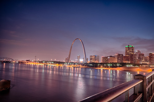 Glowing St. Louis Skyline by Jeff.Hamm.Photography