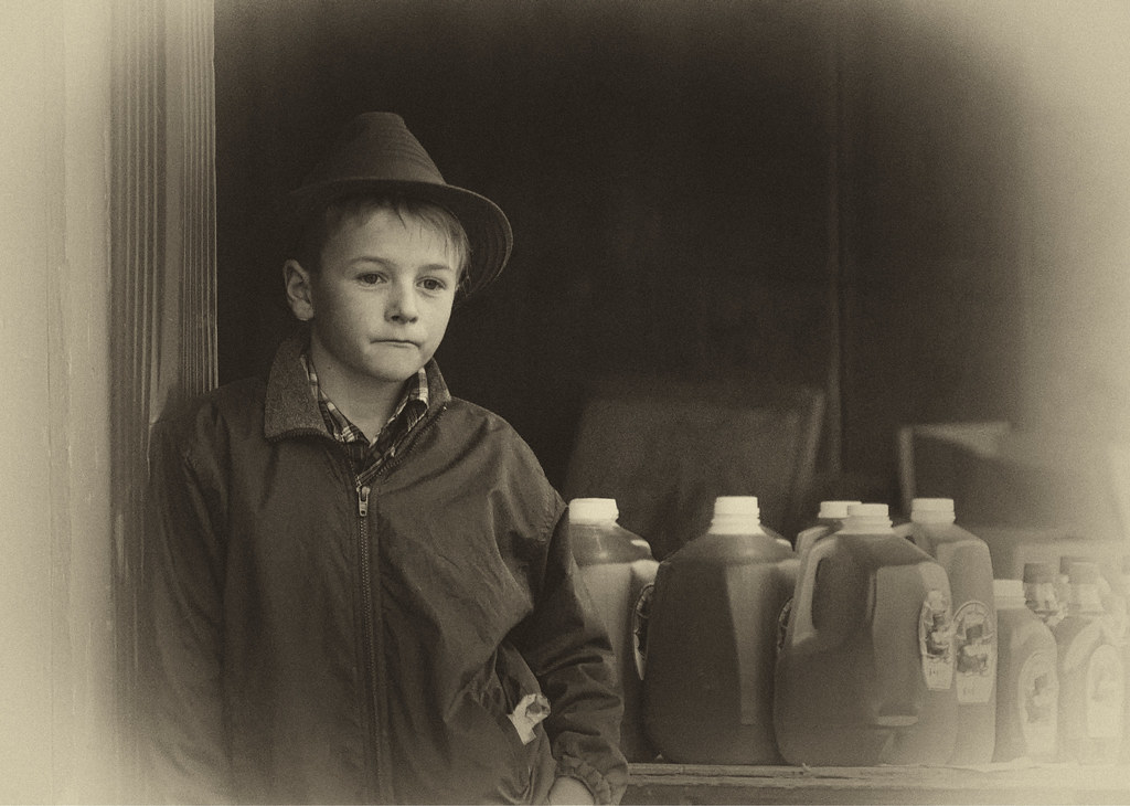 Traditional Mennonite Boy at the St Jacobs Market