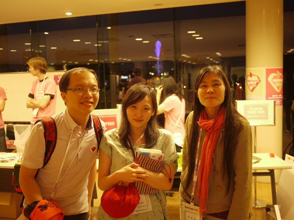 Photo with Nakawaza and Yamaneko @Rubykaigi2013