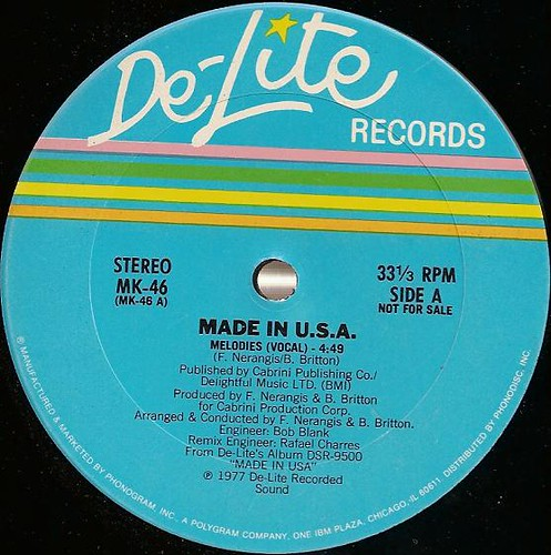 Made In U.S.A. - Melodies 12'' Promo
