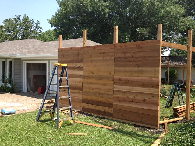 horizontal cedar fence - It's Great to Be Home