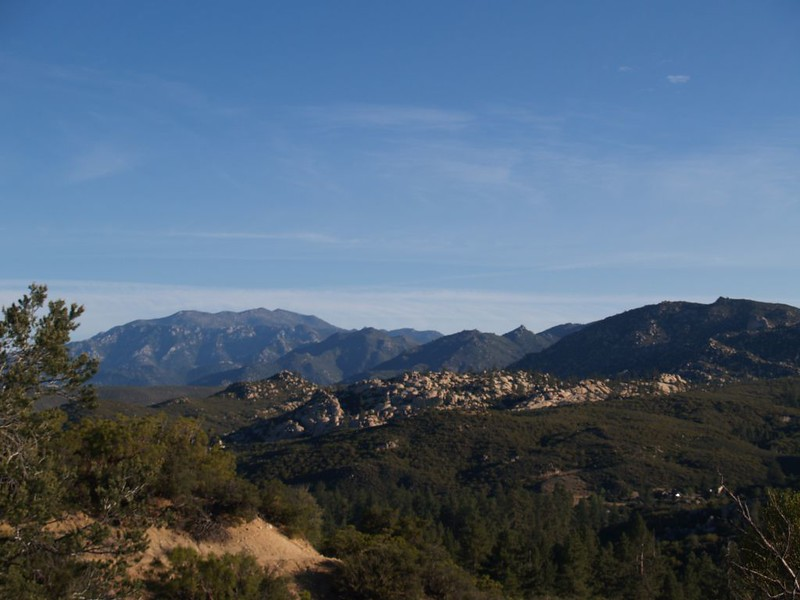 View north of our route along the ridge (right to left) toward San Jacinto Peak