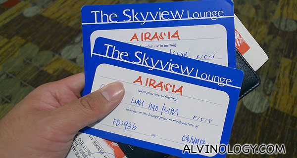 Passes to use the Skyview Lounge