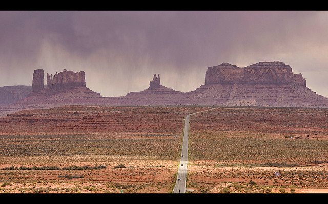 Monument Valley In A Storm Looking South From Route 163 Arizona Utah Border Flickr Photo