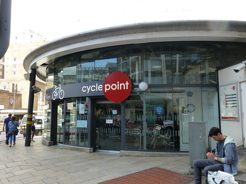 The cycle point at Leeds Station