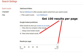 Getting 100 Search Results per Page