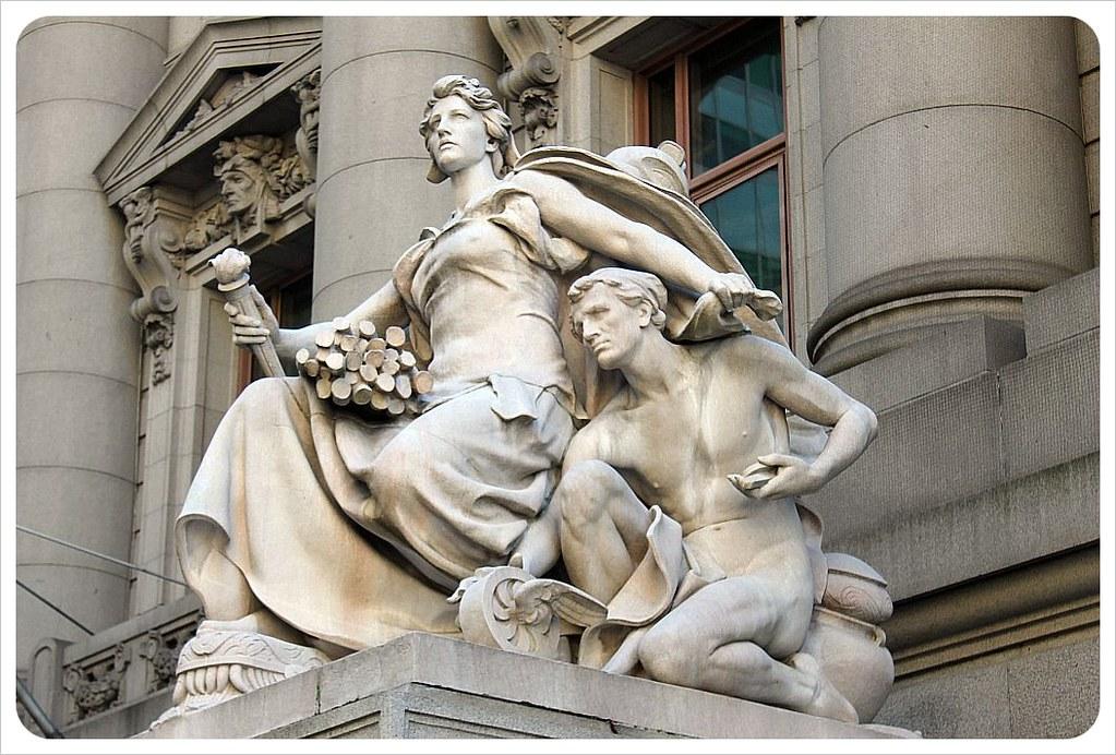 new york broadway statues