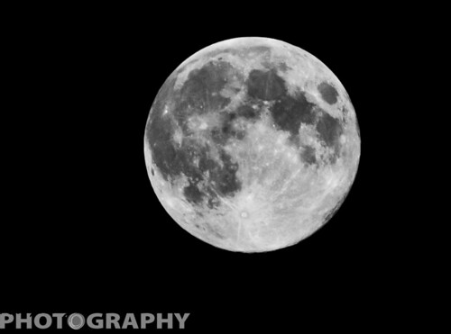 Blue Moon  Full Moon by Ricky L. Jones Photography
