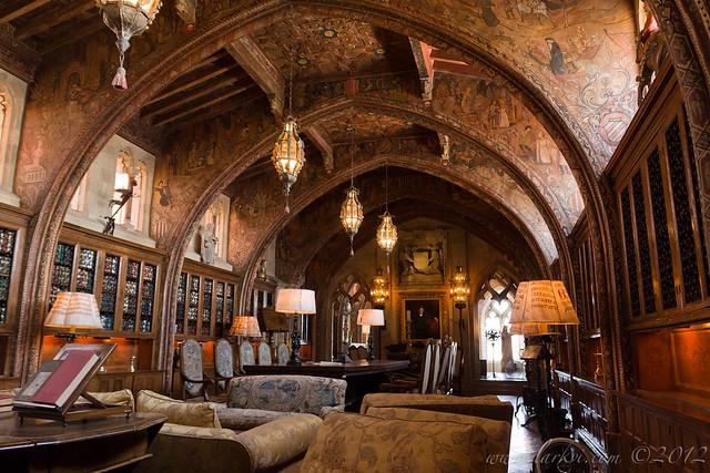 Private Library, Hearst Castle, San Simeon, California