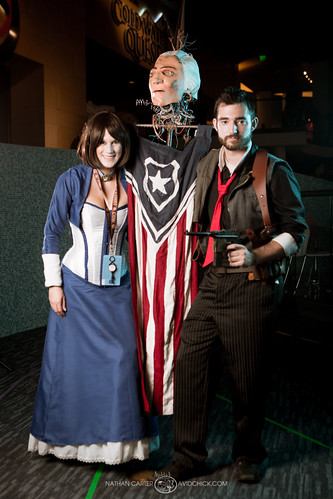 Bioshock Infinite Cosplay Patriot cosplayers for shoots when