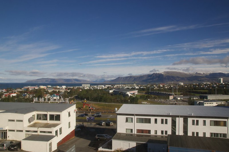 The view from our Reykavik hotel room