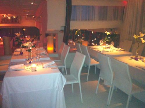 Salón del interior del restaurante