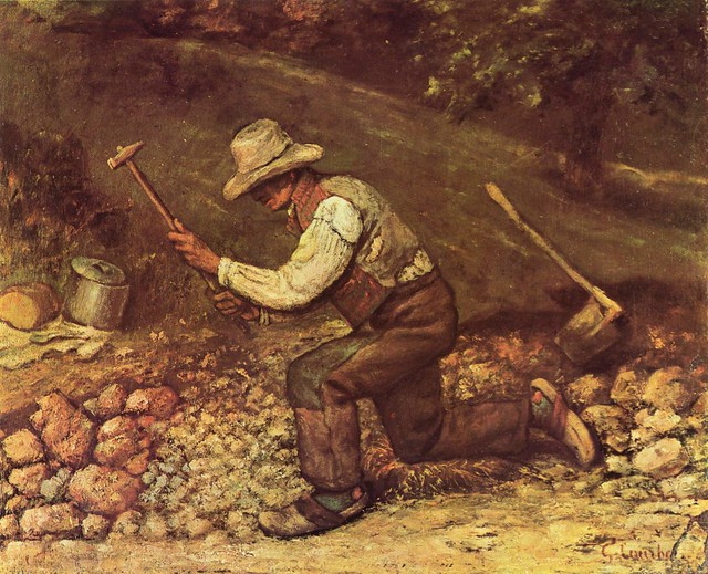 courbet's the stone breakers Jean désiré gustave courbet (10 june 1819–31 december 1877) was a french painter stone breakers in 1849 courbet saw.