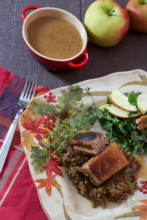 Cider Braised Pork Belly #SundaySupper