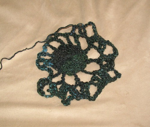 Crocheting handspun