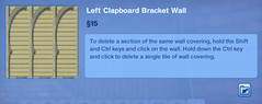 Left Clapboard Bracket Wall