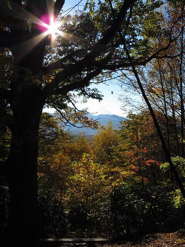 sun landscape northcarolina blueridgeparkway westernnorthcarolina simspond southernappalachians greenknobtrail canonpowershotsx40hs