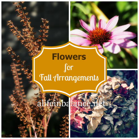Create fall foliage arrangements from perennials, shrubs, and flowers in your yard