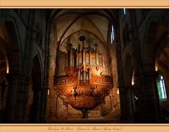 Orgel der ehemaligen Abtei Sankt Colomban in Luxeuil-les-Bains (Haute-Saône)
