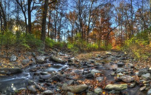 autumn creek sunrise dawn nikon hdr scottmcleod troutstream catoctinmountainpark thurmontmaryland nikond800 bighuntingcreek dscottmcleod