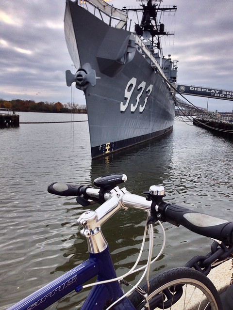 Little bike, big ship #coffeeneuring