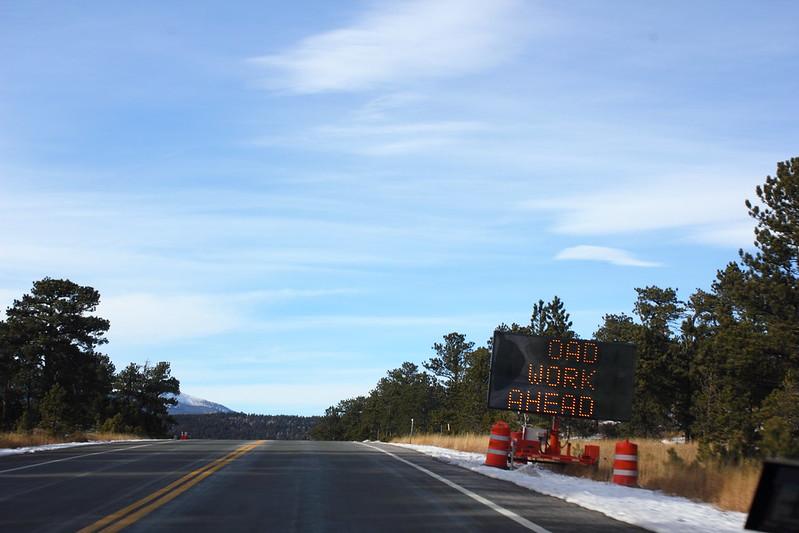 Road work near Allenspark