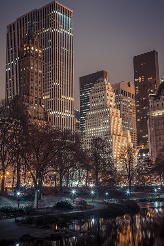 New York - Central Park at night