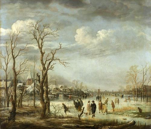 015-Vista del río en invierno, Aert van der Neer, 1630 - 1660-Rijkmuseum