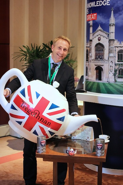 English tea, provided by Tregothnan was served to guests from a giant teapot.
