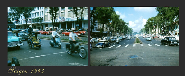 SAIGON 1965 - Le Loi Avenue - Photo by Robert Gauthier