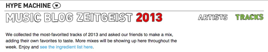 Mixes featuring the Most Blogged   Loved Tracks of 2013   The Hype Machine