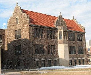 Model School Building and College Hall of the Winona Normal School