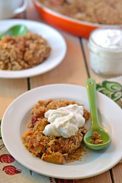 Healthy Peach Breakfast Crisp
