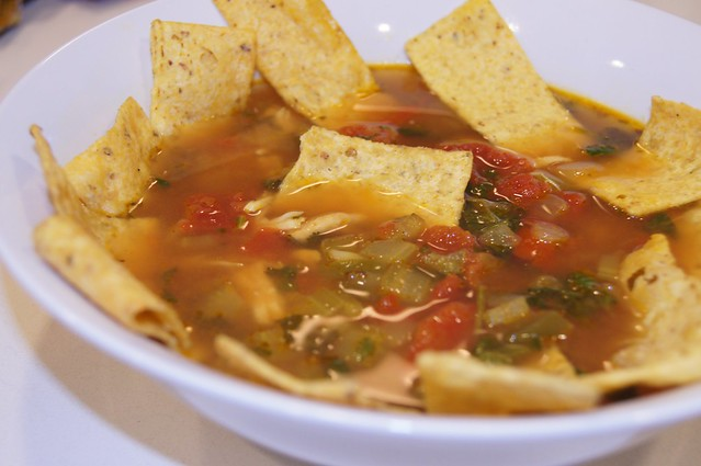 Chicken-Lime-Tortilla Soup - Plated