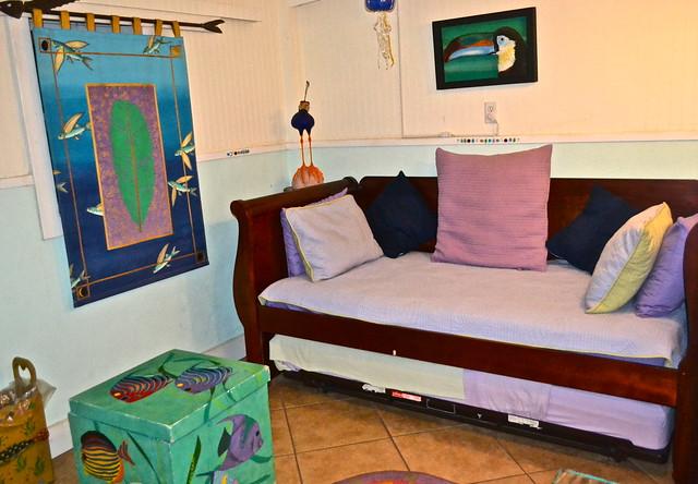 Trend Stock Island Key West Florida house rental sofa sleeper