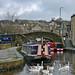 Small photo of Narrowboat Inertia and swans